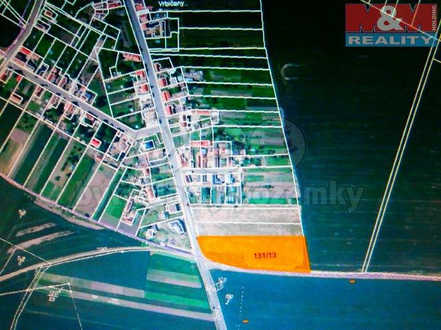 Prodej, stavební parcela 12437 m2, Vrbičany u Lovosic