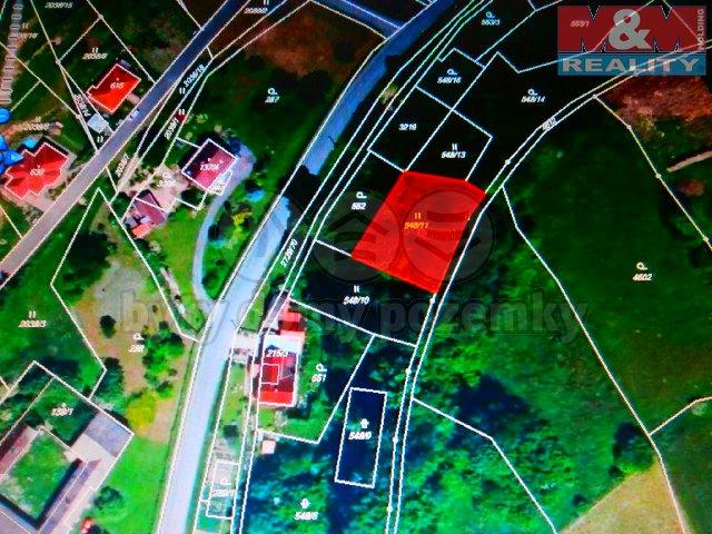 Prodej, stavební parcela, 1169 m2, Vendolí