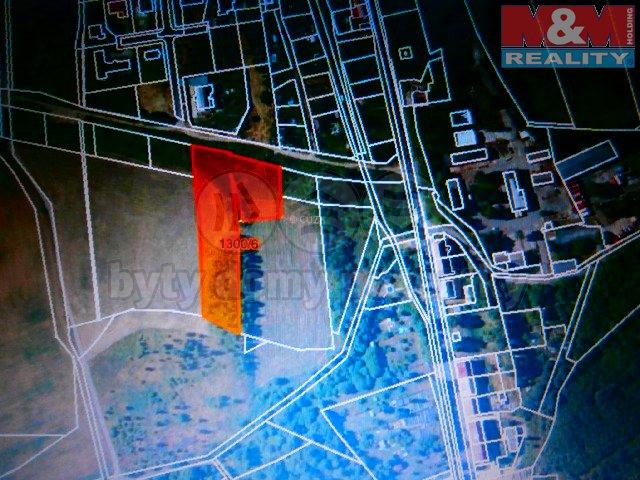Prodej, stavební parcela, 5993 m2, Lom u Mostu