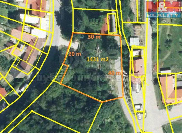 Prodej, stavební pozemek, 1431 m2, Olšany