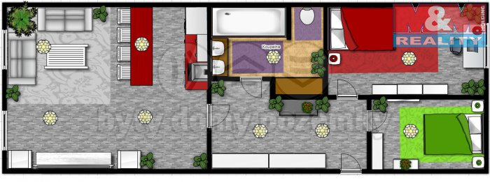 Prodej, byt 3+kk, 62 m2, Praha 4 - Chodov