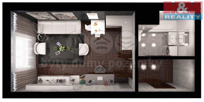 Prodej, byt 1+kk, 38 m2, Praha 9 - Vysočany