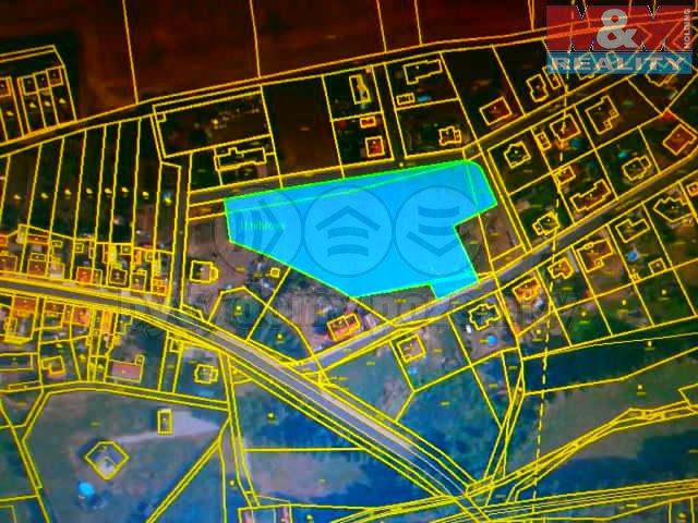 Prodej, stavební parcela, 1665 m2, Podbořany-Hlubany