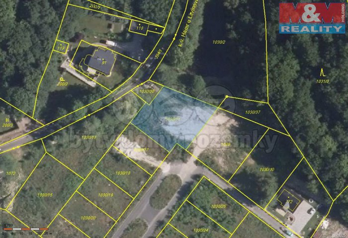 Prodej, stavební pozemek, 4656 m2, Litvínov