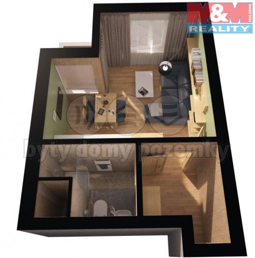 Prodej, byt 1+kk, 35 m2, Praha 10 - Uhříněves