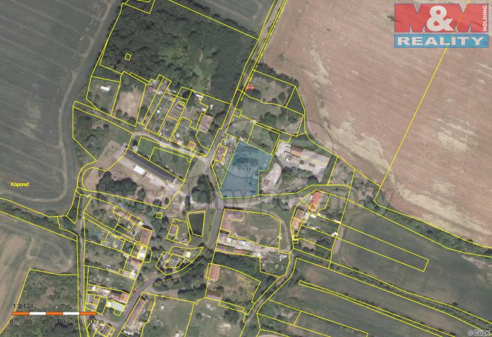 Prodej, stavební parcela, 2666 m2, Koporeč