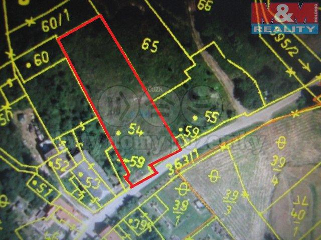Prodej, stavení pozemek 2241 m2, Velemyšleves - Minice