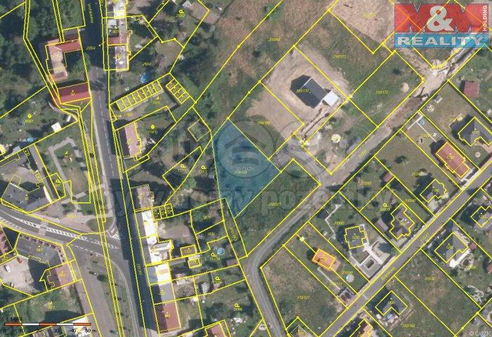 Prodej, stavební parcela, 1243 m2, Lom u Mostu