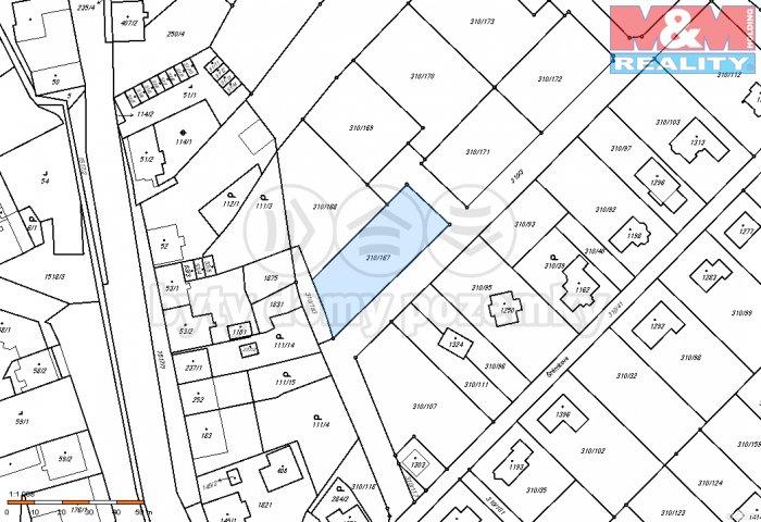 Prodej, stavební parcela, 1138 m2, Lom u Mostu