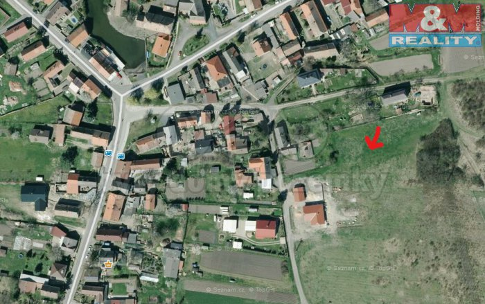 Prodej, stavební parcela, 5 168 m2, Křešice - Zahořany
