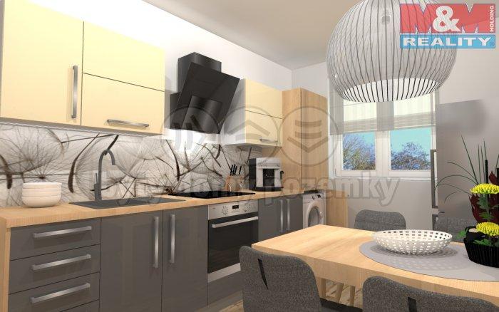 Prodej, byt 2+kk, 43 m2, DV, Ústí nad Labem, ul. Brandtova