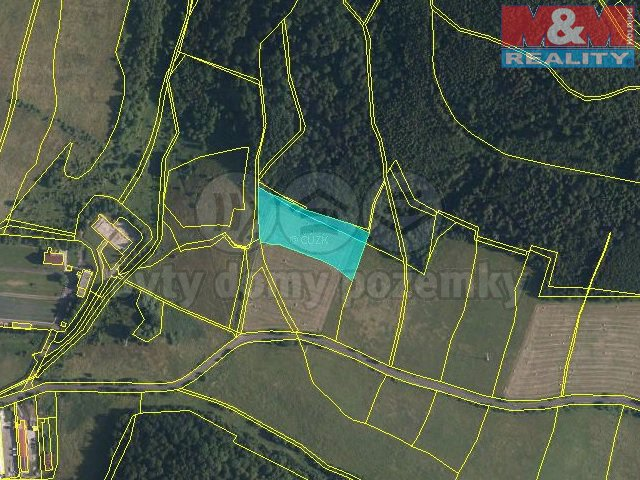 Prodej, pozemek, 8709 m2, Chuderov - Radešín