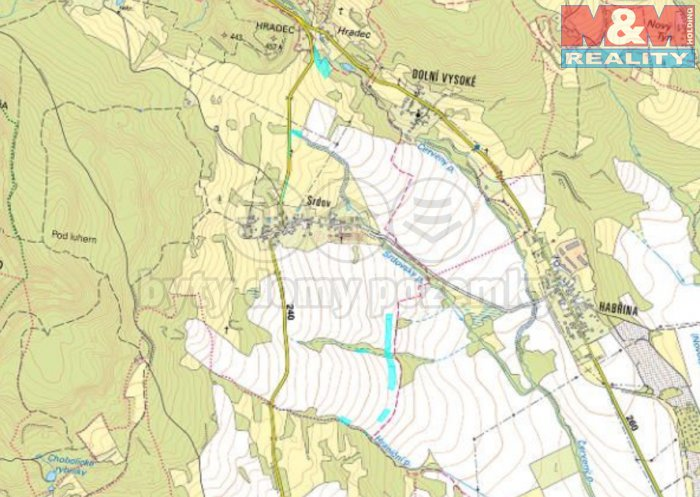 Prodej, pozemek 27.214 m2, Liběšice - Srdov