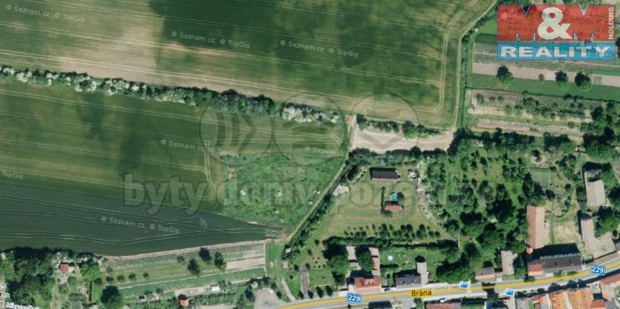 Prodej, stavební pozemek, 4500 m2, Louny - Líšťany