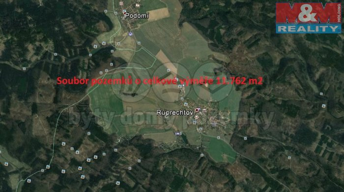 Prodej, pole, 11762 m2, Ruprechtov