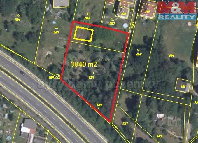 Prodej, stavební pozemek, 3040 m2, Chrastava - centrum