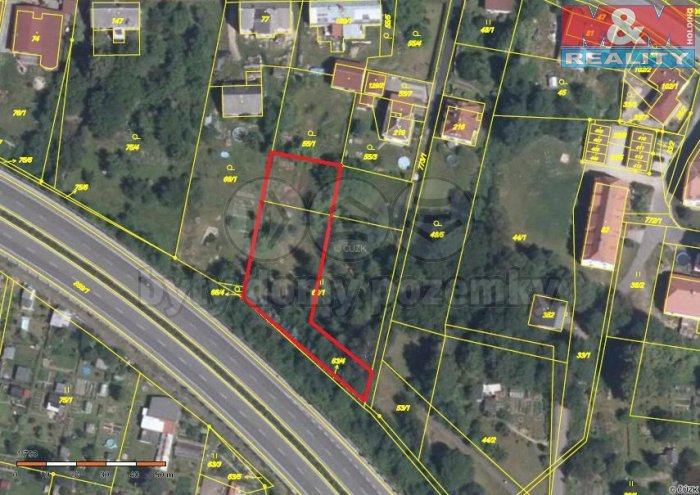 Prodej, stavební pozemek, 1500 m2, Chrastava - centrum