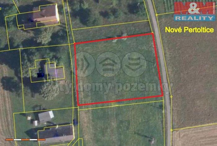 Prodej, stavební pozemek, 2025 m2, Pertoltice