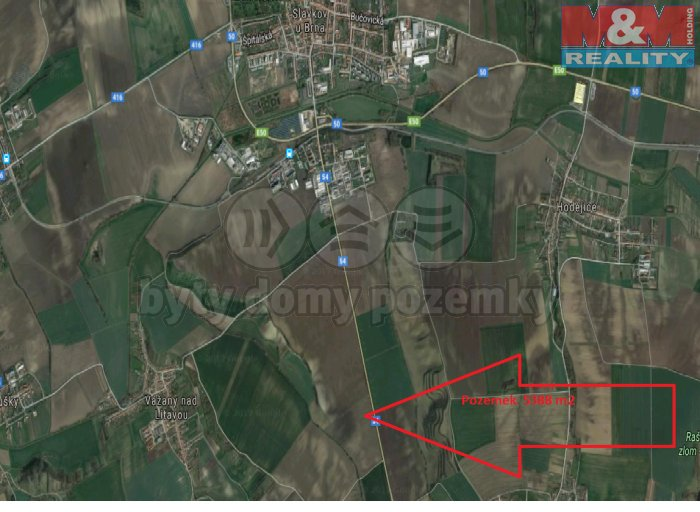 Prodej, pole, 5389 m2, Vážany nad Litavou