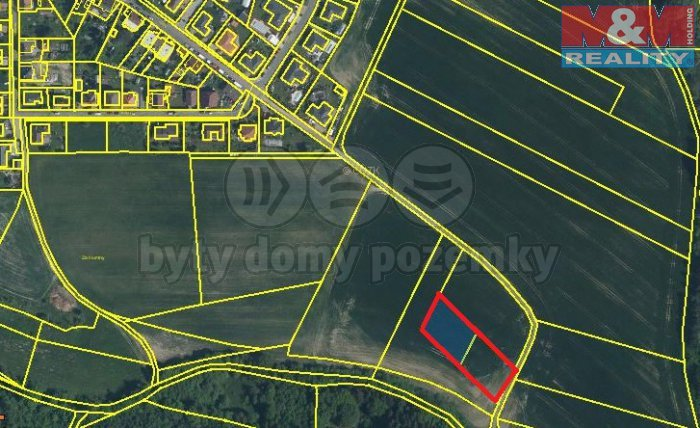 Prodej, stavební pozemek, 2396 m2, Červený Hrádek, Plzeň
