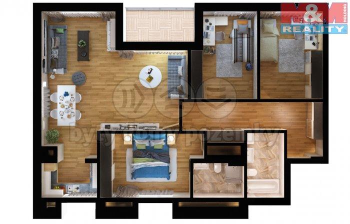 Prodej, byt 4 kk, 119m2, Praha 9 - Vysočany