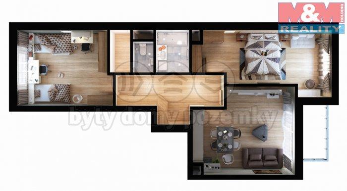 Prodej, byt 3+kk, 93 m2, Praha 9 - Vysočany