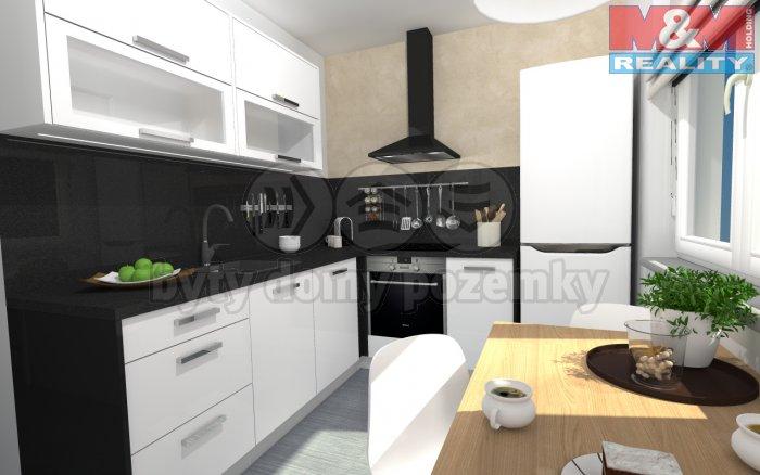 Prodej, byt 2+1, 57 m2, Liberec, ul. Školní, Králův Háj