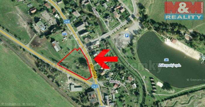 Prodej, stavební pozemek 3874 m2, Zákupy