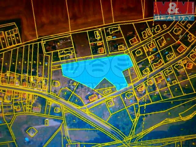 Prodej, stavební parcela, 8191 m2, Podbořany-Hlubany