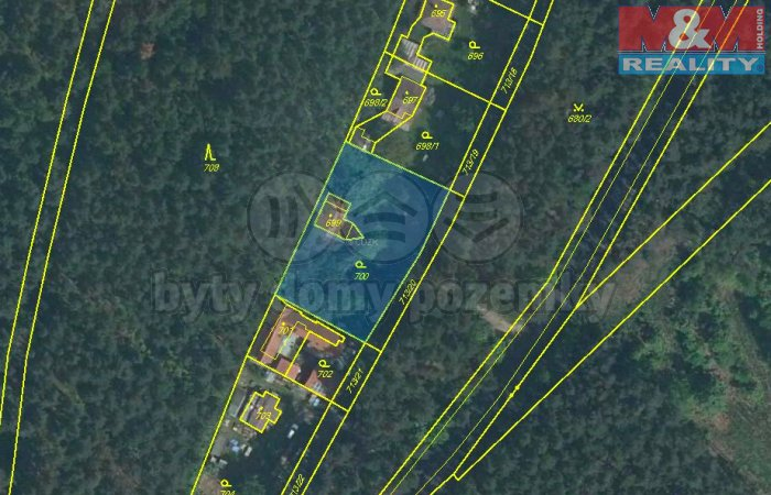 Prodej, stavební pozemek, 1529 m2, Lhota, ul. Rekreační