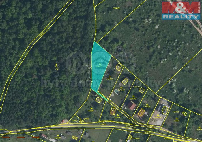 Prodej, stavební pozemek, 1080 m2, Plzeň, ul. Pod Sylvánem