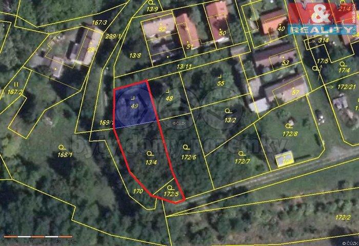 Prodej, pozemek, OV, 586 m2, Chlumčany u Loun - Vlčí
