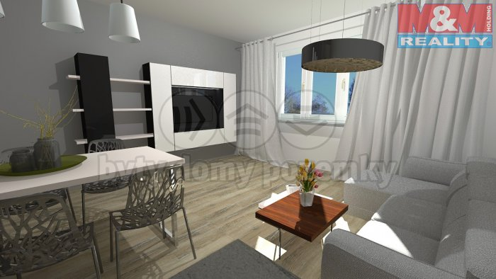 Prodej, byt 3+1, 60 m2, OV, Povrly, ul. 5. Května