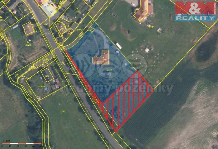 Prodej, stavební pozemek, 2421 m2, Údlice, Přečaply