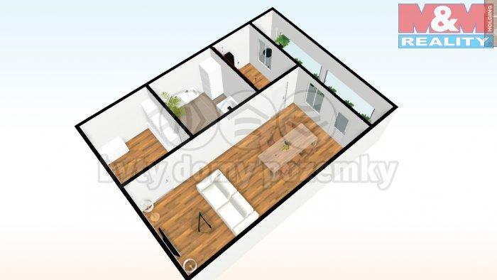 Prodej, byt 1+1, 34 m2, Praha 4 - Krč