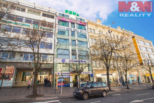 Pronájem, kancelářské prostory, 40 m2, Praha, Václavské nám.