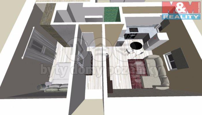 Prodej, dvougenerační byt, 100 m2, Slaný, ul. Jiráskova
