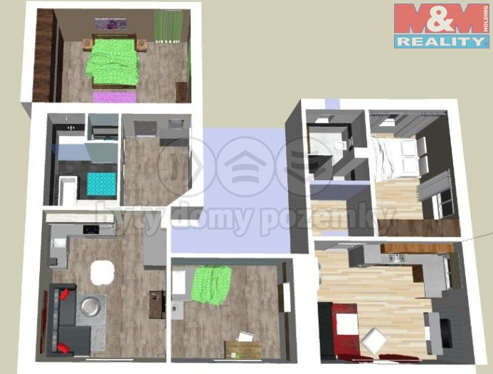 Prodej, dvougenerační byt, 121 m2, Slaný, ul. Jiráskova