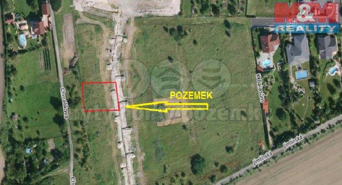 Prodej, stavební parcela, 670 m2, Louny