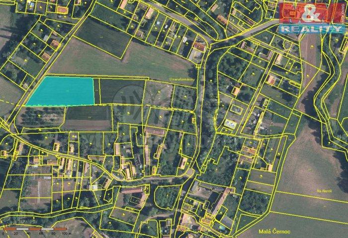 Prodej, stavební parcela, 4273 m2, Blšany - Malá Černoc