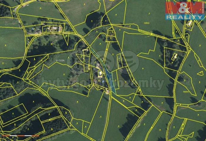 Prodej, pozemek, 1025 m2, Benecko - Mrklov