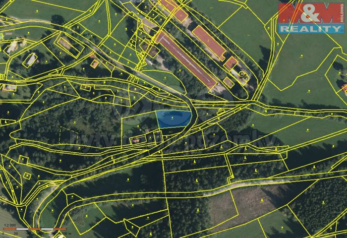 Prodej, pozemek, 1448 m2, Benecko - Mrklov