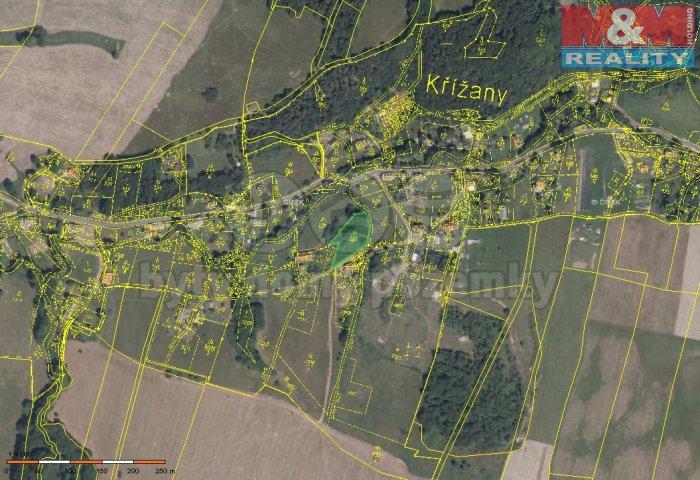 Prodej, pozemek, 2860 m2, Křižany