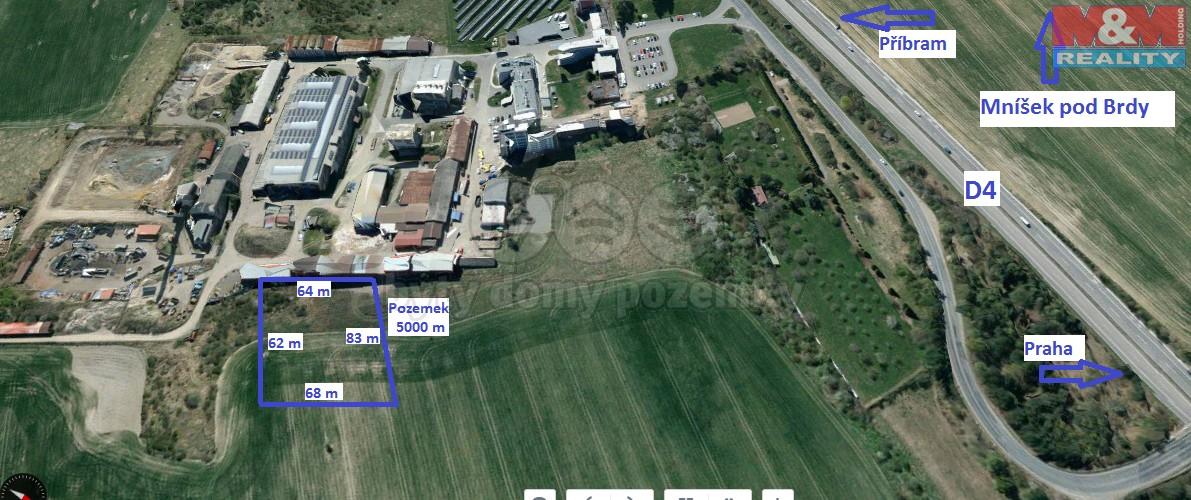 Prodej, provozní plocha 5.000 m2, Mníšek pod Brdy