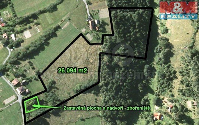 Prodej, pozemek, 26094 m2, Bystřice nad Olší