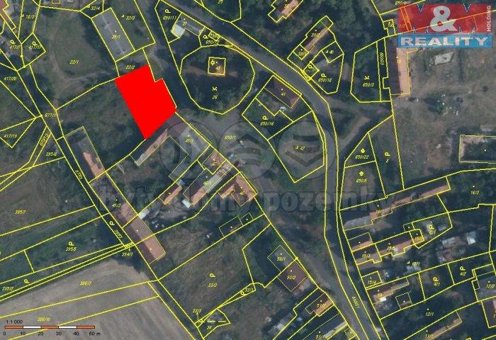 Prodej, stavební parcela, 800 m2, Podbořany - Letov