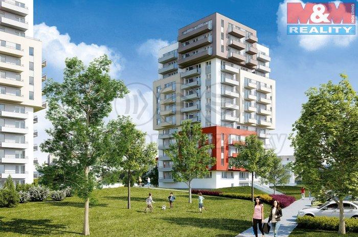 Prodej, byt 1+kk, 39 m2, Praha 9 - Letňany