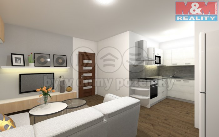 Prodej, byt 2+1, 52 m2, Plzeň - Skvrňany