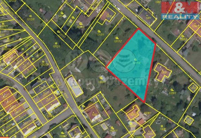 Prodej, stavební parcela, 1717 m2, Liberec - Vesec