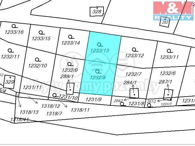 Prodej, zahrada, 385 m2, Albrechtice